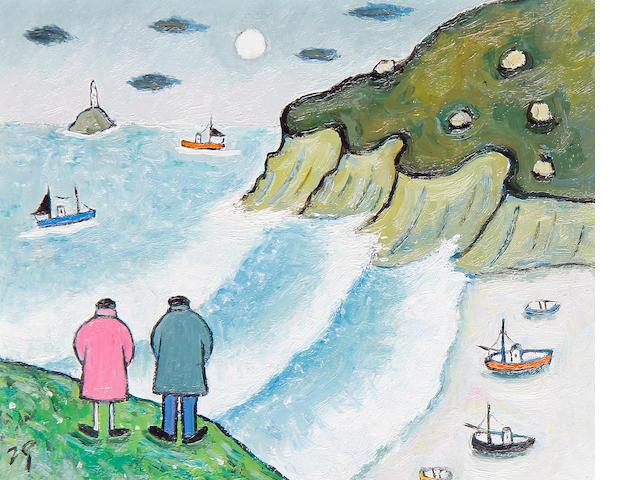 Joan Gillchrest (British, 1918-2008) 'Walking near Lands End'