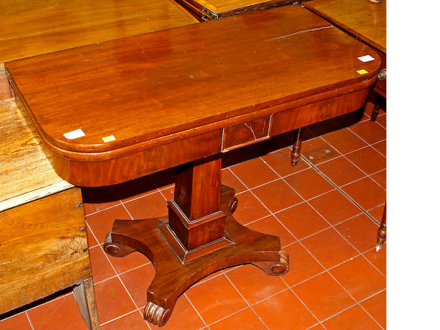 An early Victorian mahogany tea table,