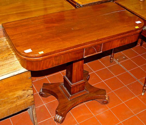 An early Victorian mahogany tea table,