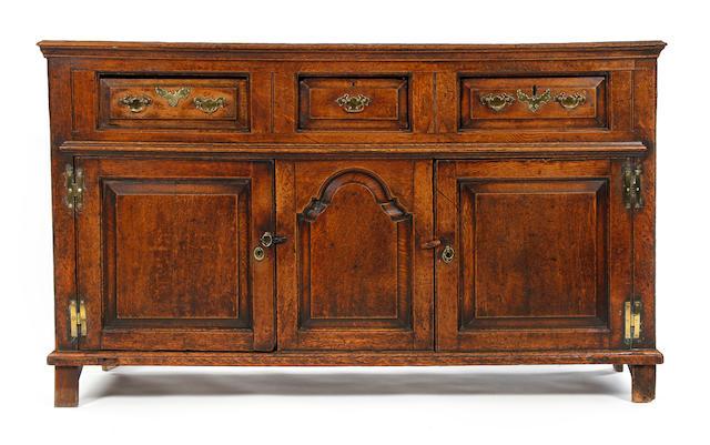 A George II oak dresser base
