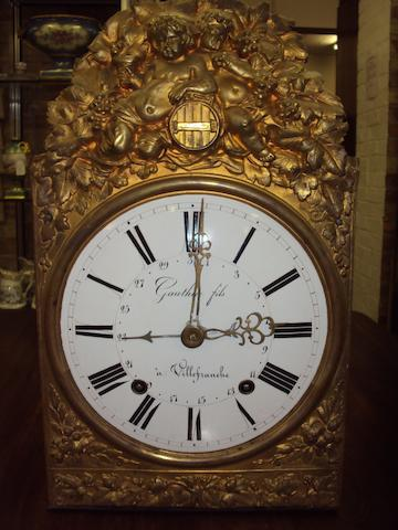 An early 19th century French wall clock