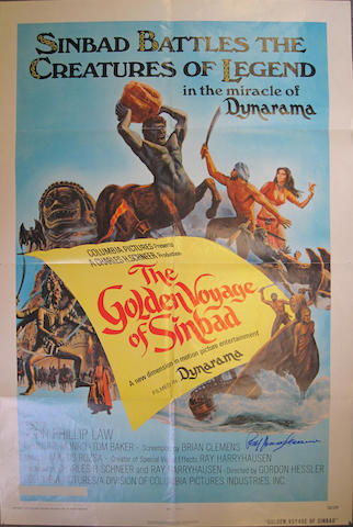 Ray Harryhausen: Three signed film posters,3