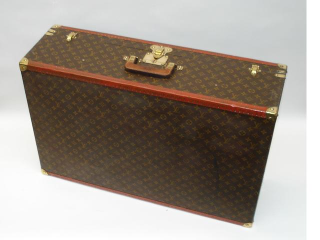 A large Louis Vuitton suitcase, circa 1940,