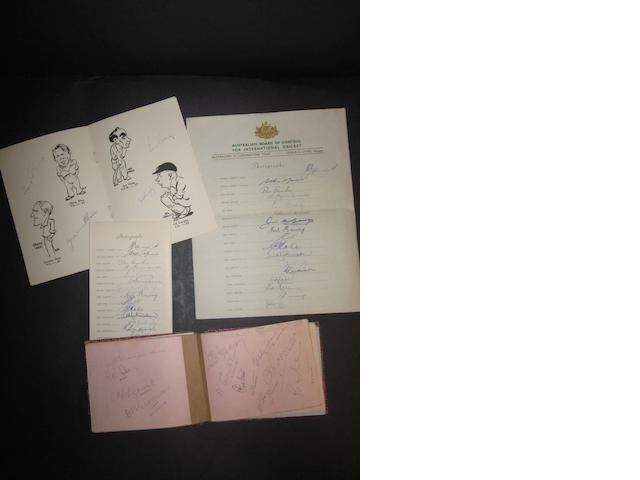 A collection of cricket autographs