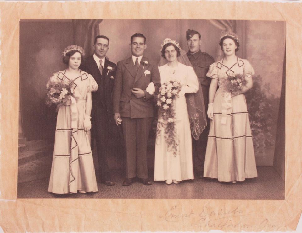 A 1940 wedding dress and associated photo