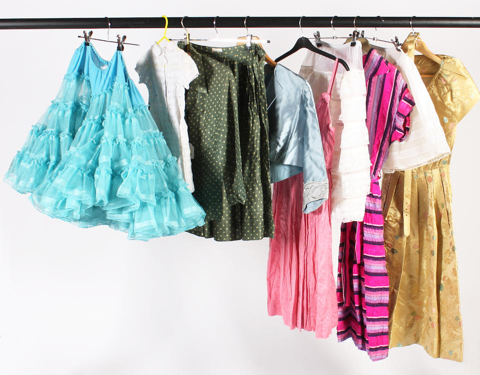 A group of 1940-50s clothing