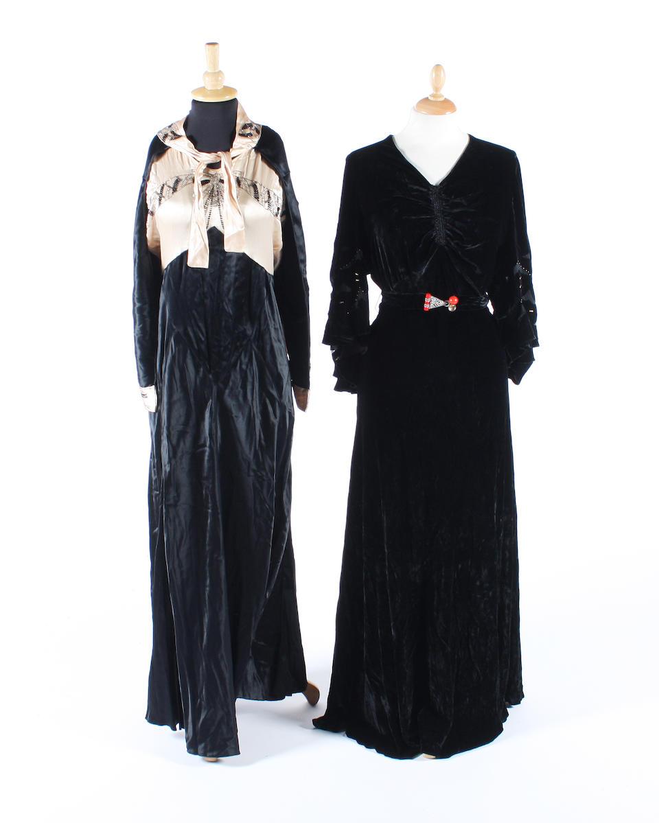 Five 1930s evening dresses