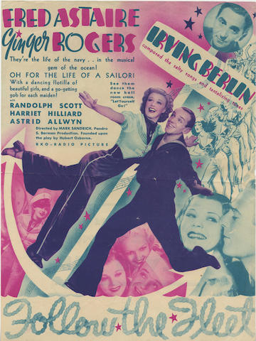 Fred Astaire and Ginger Rogers: A collection of twelve 1930s - 1950s heralds/ flyers,  including:12