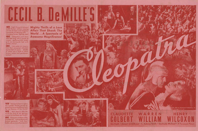 Cecil B. DeMille: A collection of seven 1920s - 1950s related heralds, titles including: 7