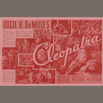 Cecil B. DeMille: A collection of seven 1920s - 1950s related heralds, titles including:7