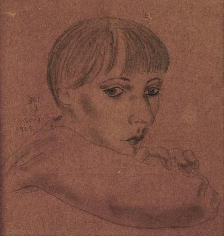 Tsuguharu Foujita (1886-1968) Portrait de Kiki