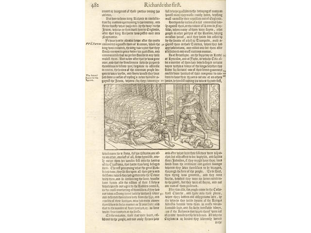 HOLINSHED (RAPHAEL) The Firste [-Laste] Volume of the Chronicles of England, in 2 vol, 1577 (2)