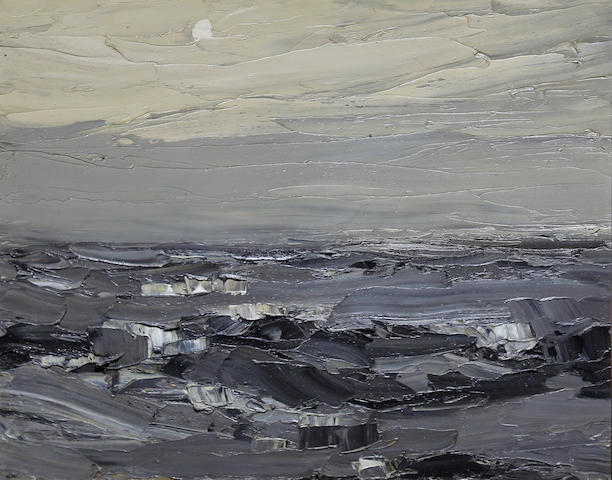Sir Kyffin Williams R.A. (British, 1918-2006) Sea mist of Anglesey