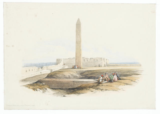 David Roberts, The Obelisk at Alexandria (frameless)