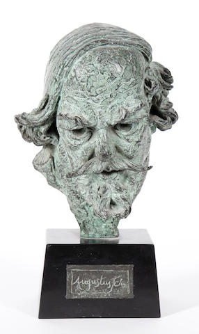 Barney Seale (British, 1896-1957) Bust of Augustus John 24 cm. (9 1/1 in.) (height, excluding base)