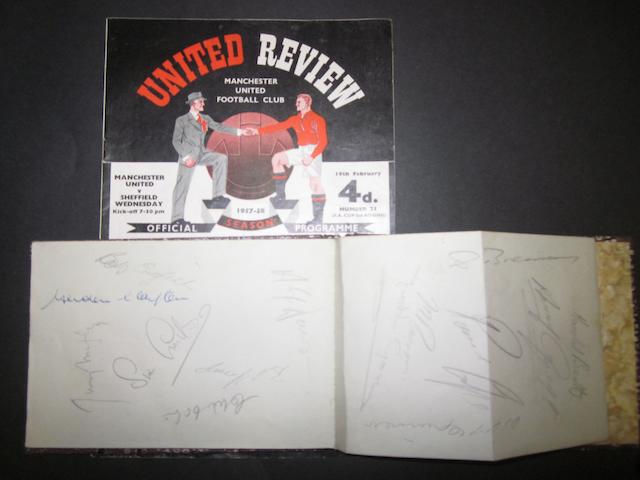 Manchester United Busby Babes autographs and programme