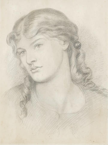 Dante Gabriel Rossetti (British, 1828-1882) Portrait of Alexa Wilding