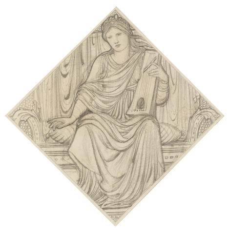 Sir Edward Coley Burne-Jones, Bt., ARA (British, 1833-1898) A woman with a lyre
