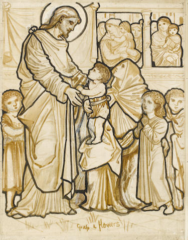 Sir Edward Coley Burne-Jones, Bt., ARA (British, 1833-1898) Suffer the children unto me