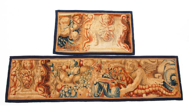An early 18th century tapestry panel