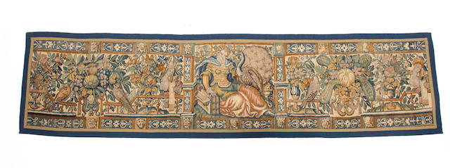 A 18th century tapestry border panel