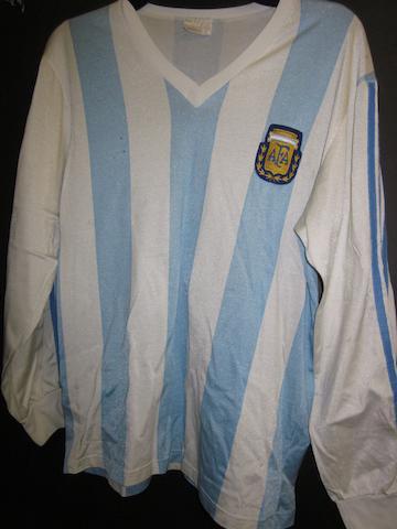 Alfaro Moreno match worn Argentina shirt