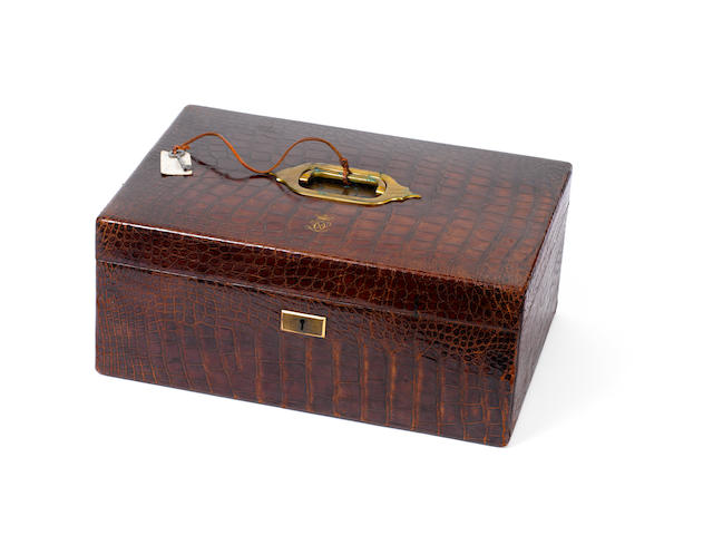A fine crocodile leather document case
