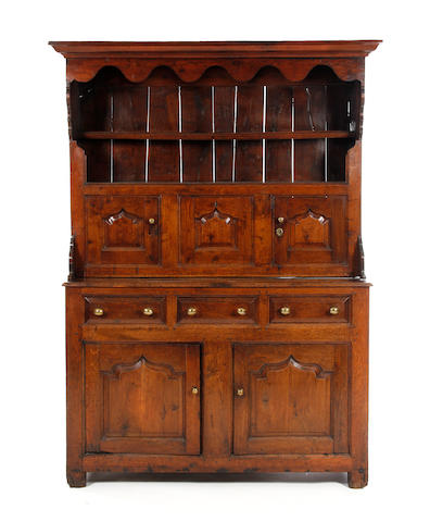 A rare early 18th century oak canopy dresser, North Wales Circa 1720-50, Snowdonia