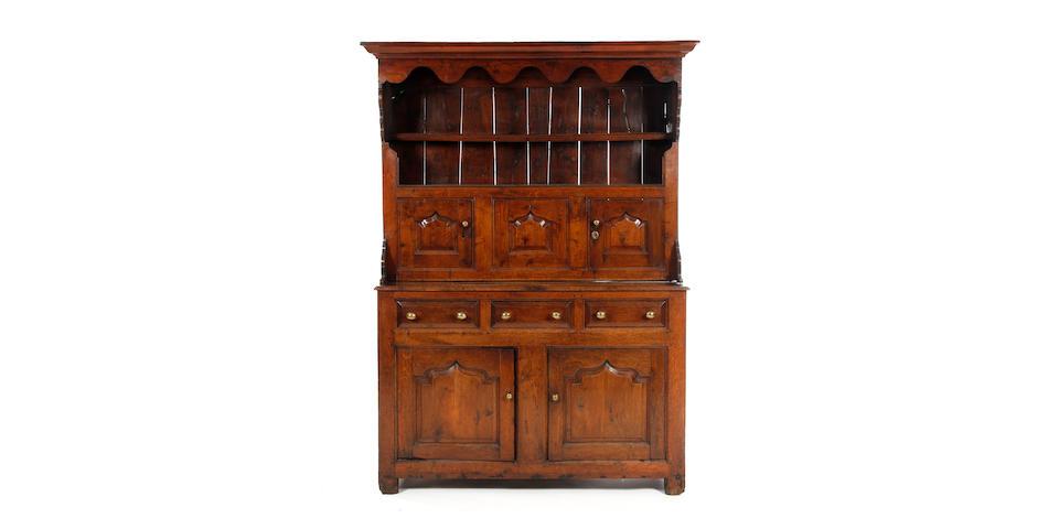 A rare early 18th century oak canopy dresser, North Wales Circa 1720-50, Snowdonia