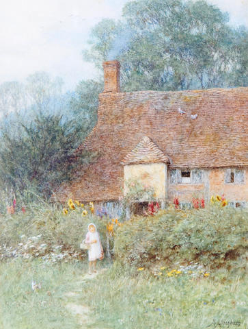 Helen Allingham, RWS (British, 1848-1926) By the cottage gate