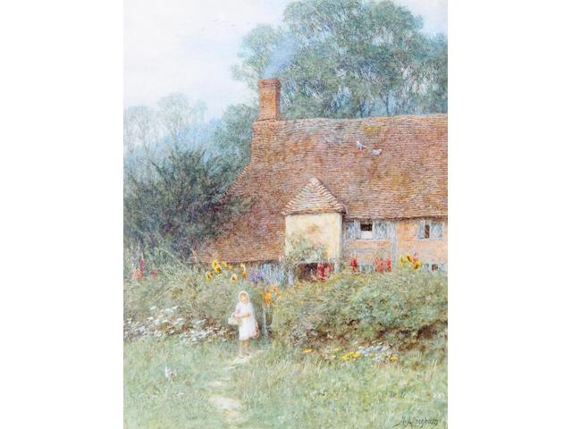 Helen Allingham, RWS (British, 1848-1926) By the cottage gate