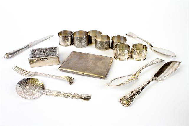 A collection of silver items Various dates and makers  (15)