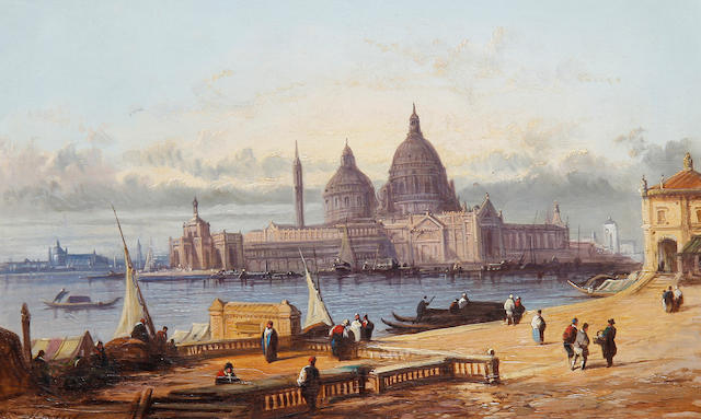 Henry Foley (British, 19th Century) A view of San Georgio Maggiore, Venice; A view of Nuremberg, Germany (2)