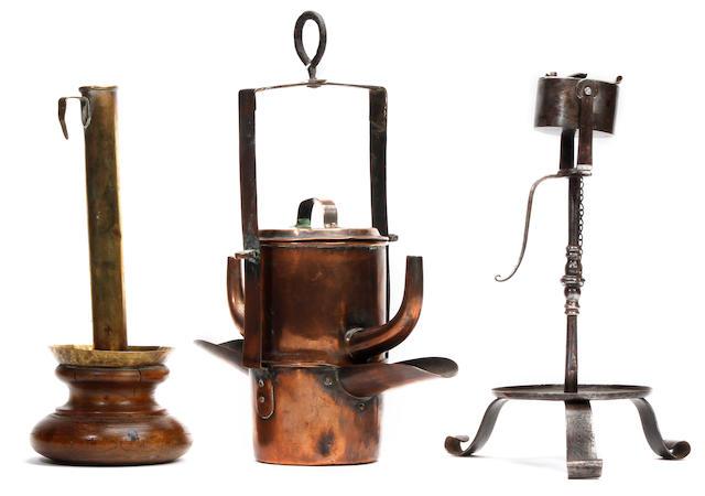 Three items of 18th/19th Century domestic lighting