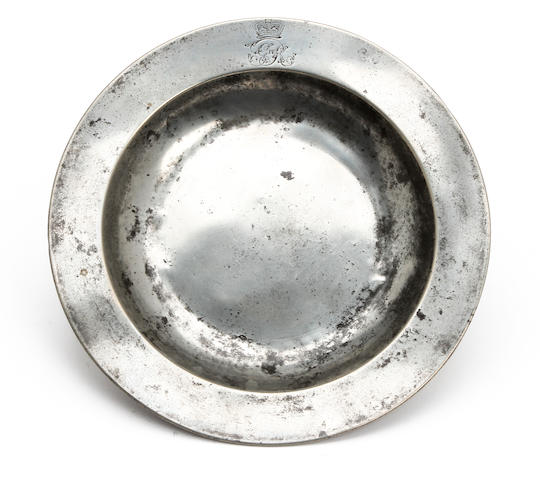 A Pewter dish