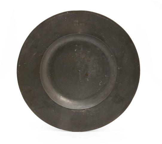 A Stuart broad rim dish, circa 1660