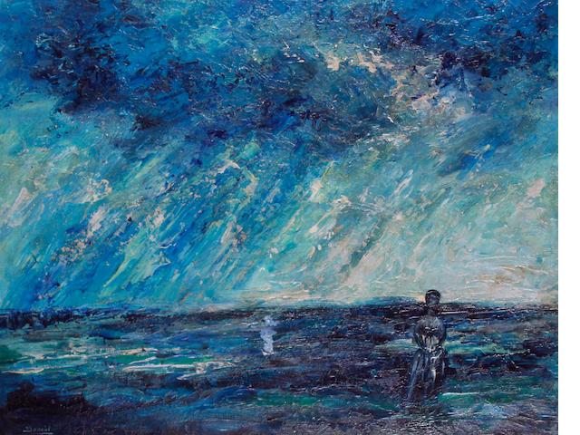 Daniel O'Neill (Irish, 1920-1974) Figure within a landscape