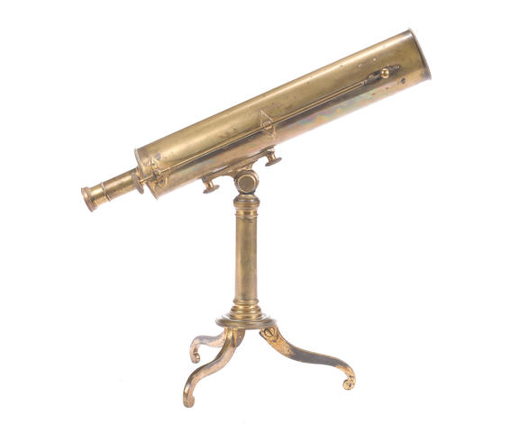 A 2.1/2-inch Dollond brass Gregorian reflecting telescope, English, early 19th century,