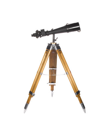 A pair of WWI field glasses and tripod - boxed, plus additional tripod