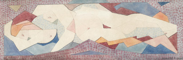 Claude Flight 'The Lovers' watercolour