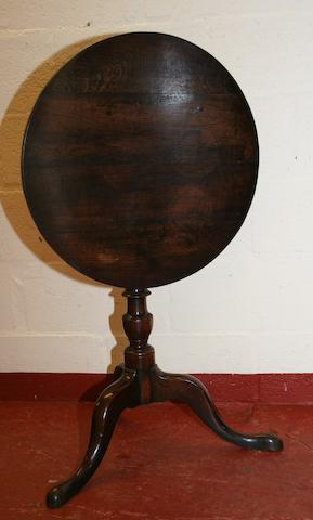A George III oak tripod table
