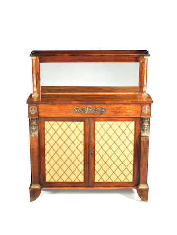 A Regency rosewood and gilt metal mounted chiffonier,
