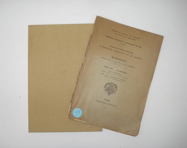 M.G. Forestier et M.G. De Chasseloup-Laubat: Concours Internationaux D'Exercices Physiques Et De Sports, 1900,