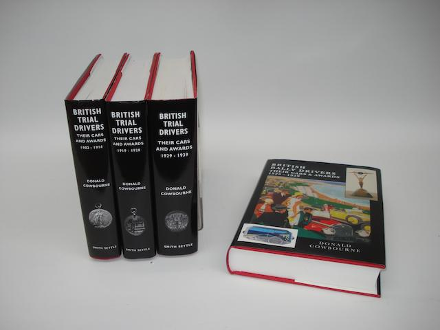 Four books by Donald Cowbourne relating to British Motoring