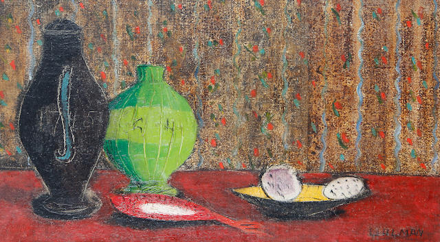 Fred Uhlman (British, 1901-1985) Still life with green pot