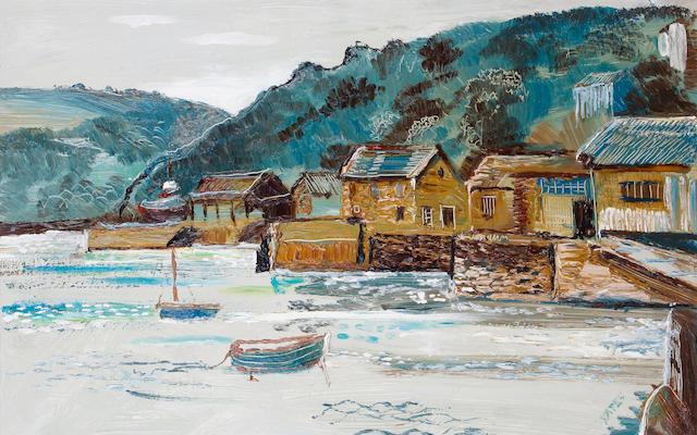 Fred Yates (British, 1922-2008) Polruan Harbour