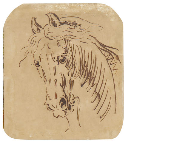 James Seymour (London 1702-1752) Head of a horse