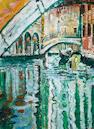 John Bratby R.A. (British, 1928-1992) Venetian canal scene