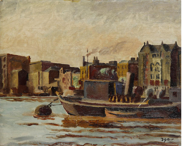 Duncan Grant (British, 1885-1978) The Thames 35.5 x 45.3 cm. (14 x 17 3/4 in.)