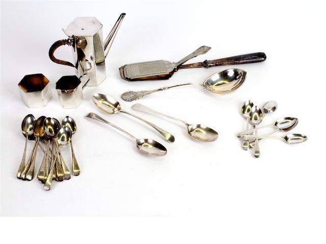 Twelve Victorian silver teaspoons By J. Millward Banks, Birmingham, 1898,  (qty)